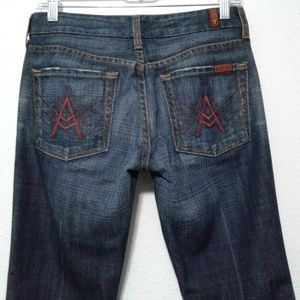 7 For All Mankind A Pocket Bootcut Dark Wash Jean